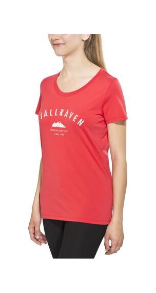 Fjällräven Trekking Equipment t-shirt Dames rood